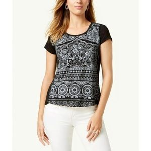 NWT Style & Co Floral Short Sleeve Top